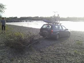 Photo: Najlepsze miejsce biwakowe było jednak 500 m w górę rzeki (przy mojej przenosce)