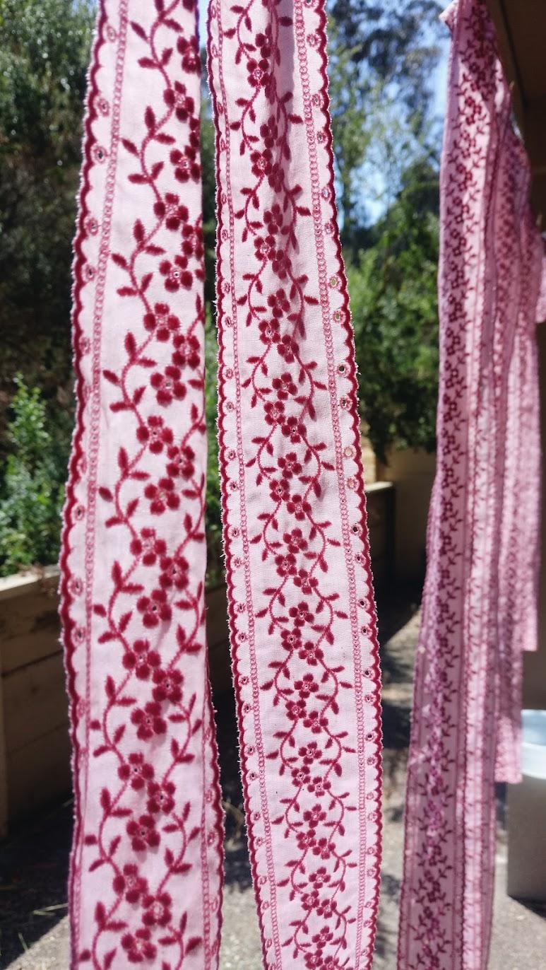Eyelet Ribbons In-Progress: Bubblegum Dreaming Cage Dress - DIY Fashion Garment   fafafoom.com