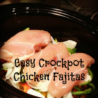 Easy Crockpot Chicken Fajitas.