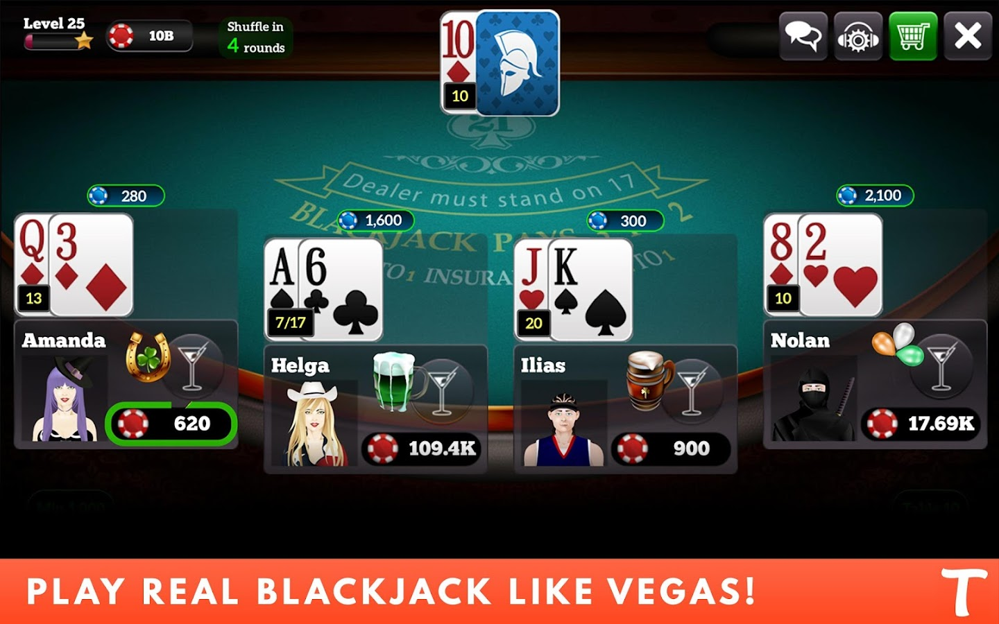 BlackJack for Tango- screenshot