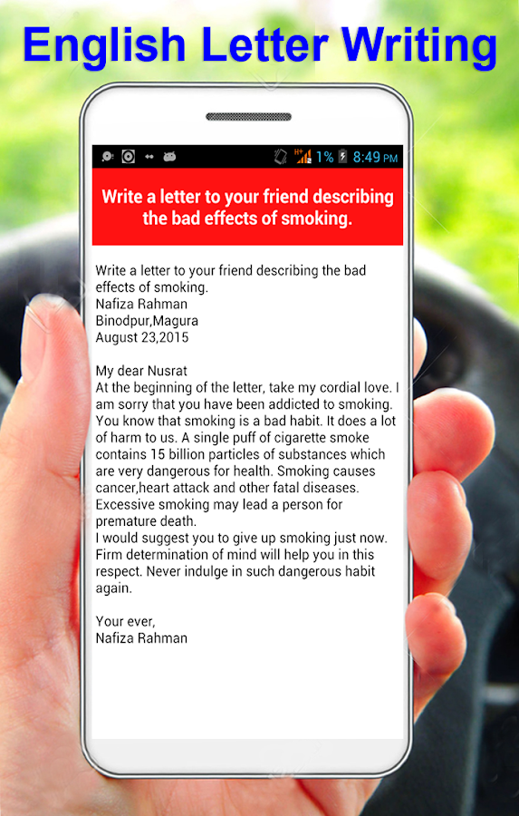 English Letter Writing Android Apps On Google Play - Birthday invitation letter to a friend in english