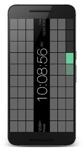 "PsPsClock ""Rect"" - Music Alarm Clock & Calendar - náhled"