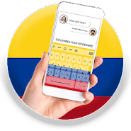 Colombia Flag Keyboard - Elegant Themes APK icon