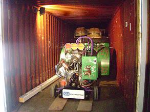 Photo: Hier in de container geplaatst welke maandag opgehaald zal worden.