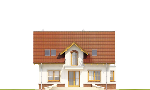 Dom Dla Ciebie 1 w3 bez garażu B - Elewacja tylna