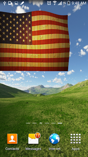 US Flag Live Wallpaper 3D