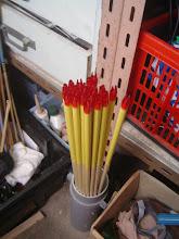 Photo: 12h00 18 fûts prêts à être emplumés