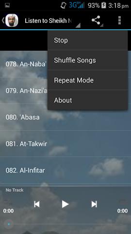 android Nasser Al Qatami Juz Amma MP3 Screenshot 6