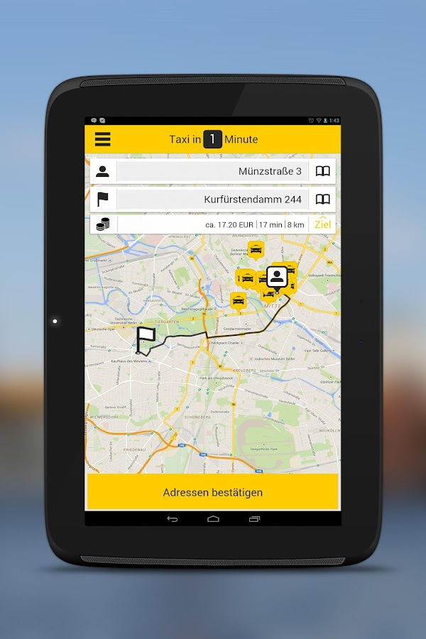 taxi.eu – Taxi App for Europe- screenshot