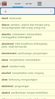 Screenshot of Kamus Mini English Malay