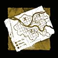 印をつけた地図