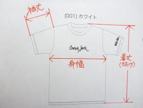 Photo: Tシャツのサイズですが次の写真にサイズ表を載せてます。 今、着用(使用)されているTシャツの各寸法を測っていただいて、近いところのサイズをご注文下さい!