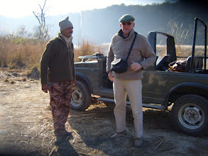 Photo: Graham and the Naturalist at Corbett 2008 - it was cold!
