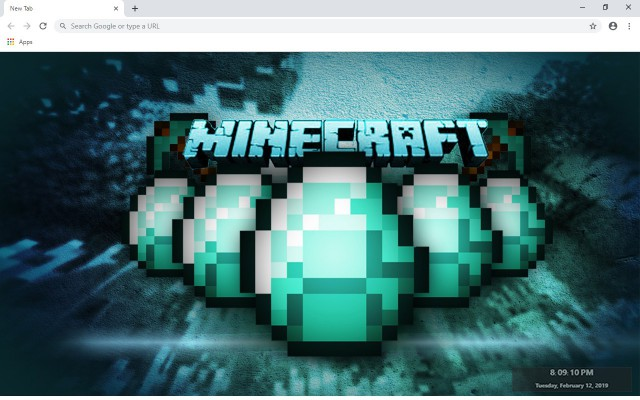 Minecraft New Tab & Wallpapers Collection
