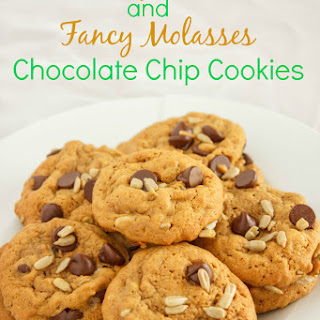 Sunflower and Fancy Molasses Chocolate Chip Cookies
