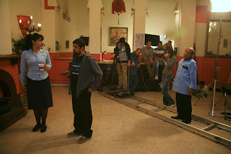 Photo: Ahmad Abdalla, in the set of Heliopolis - Cairo 2009, with Actress Hanan moutawea, Actor: Ramadhan Khater, DOP:Mahmoud Lotfy.