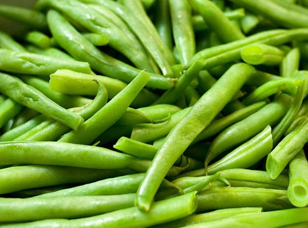 Wash and clean and snap your beans.