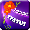 10000 status for social chat icon