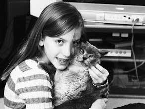 Photo: Niece and her cat, Sabbia