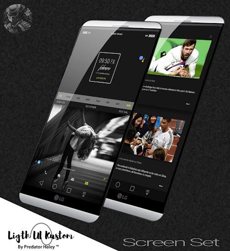 Ligth UI Kustom Pro 1/Klwp screenshot 3