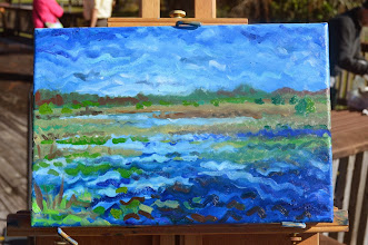 Photo: Papa Painting in progress / At Loxahatchee Wildlife Preserve 1-16-14