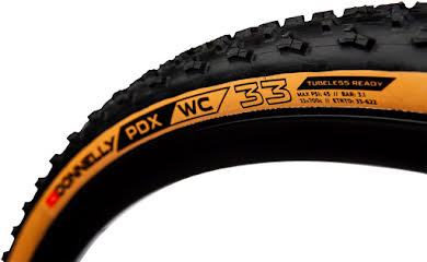Donnelly Sports PDX WC Tire - 700 x 33, Tubeless, Folding, Black/Tan, 240tpi alternate image 1