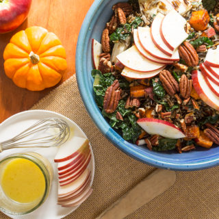 Wild Rice with Apples, Kale & Cider Vinaigrette