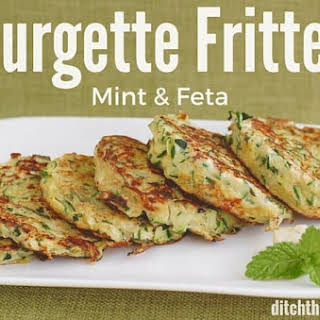 Courgette Mint And Feta Fritters.