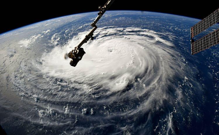 Hurricane florence satellite view