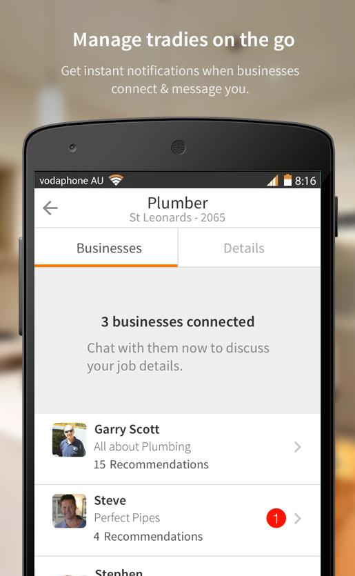 hipages - hire a tradie- screenshot