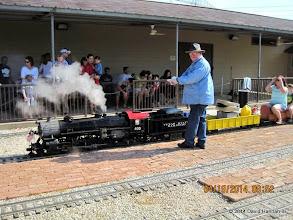 Photo: Steam Engineer Pete Greene.     HALS Public Run Day 2014-0419 DH3