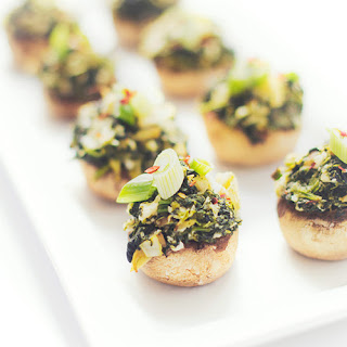 Spinach and Artichoke Stuffed Mushroom Caps