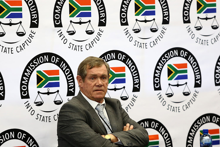 Treasury official Jan Gilliland at the state capture inquiry in Parktown, Johannesburg, on September 10 2018.