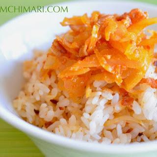 """Mock"" Kimchi Rice with Sauerkraut and Bacon"