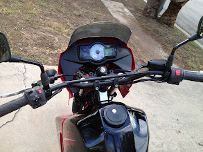 Photo: Versys dash panel fit pretty well.  Also used the switches, levers and front master cylinder.