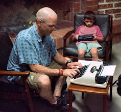 Photo: This gent and his son came in to do some typing without even knowing about the type-in
