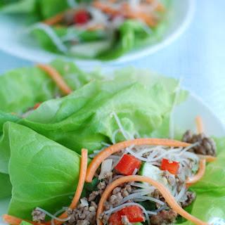 Asian Beef Lettuce Wraps