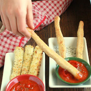 Baked Mozzarella Sticks + Whole Grain Breadsticks