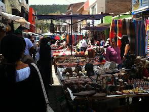 Photo: Otavalo, Ecuador market, a blase with color.