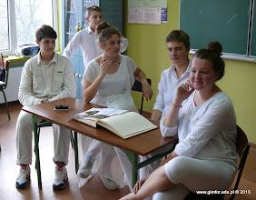 Photo: Warsztaty teatralne w Gimnazjum nr 1 w Płońsku z okazji X rocznicy nadania imienia Papieża Jana Pawła II. [22.10.2013]