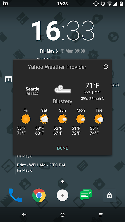 Yahoo CM Weather Provider- screenshot