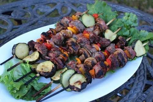 "Click Here for Recipe: Steak Kabobs ""This steak kabobs recipe is super..."