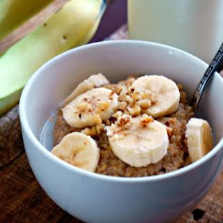 Banana Nut Quinoa Porridge.