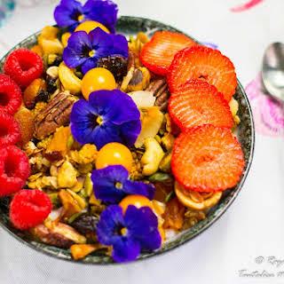 Greek yogurt and Granola breakfast bowl.