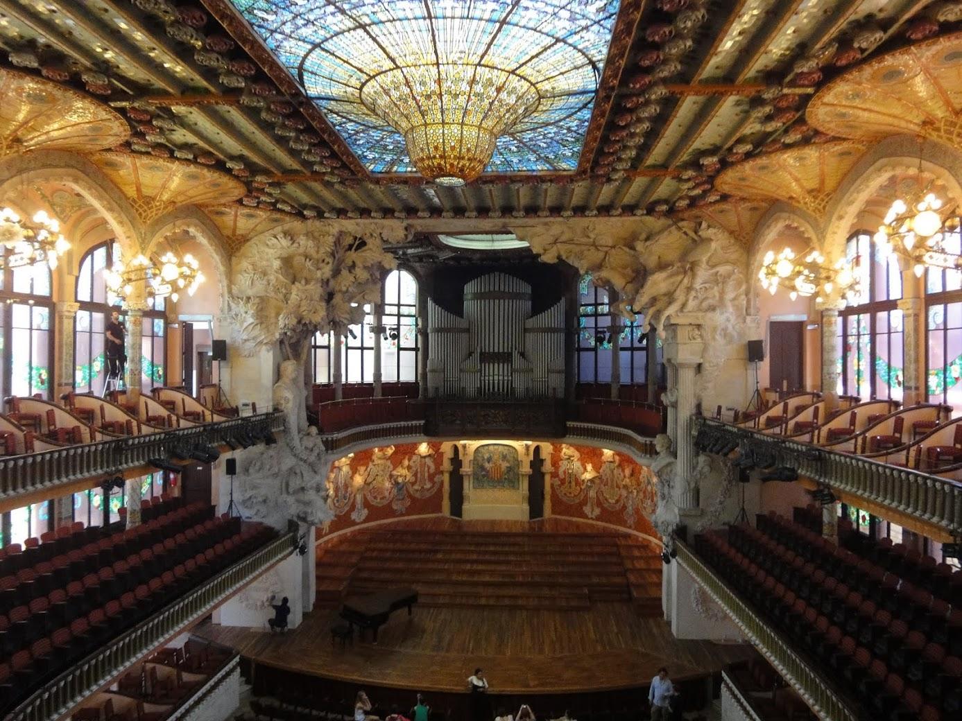 Palais de la Musique Catalane à Barcelone
