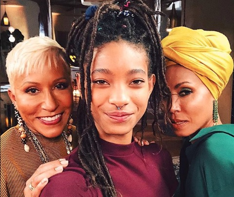 Willow Smith with her mother Jada Pinkett-Smith and grandmother Adrienne Banfield-Jones on 'Red Table Talk'.