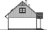 Domek Lipowy szkielet drewniany 020 JK V3 - Elewacja lewa