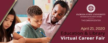FSU Education & Library <br />Virtual Career Fair Banner
