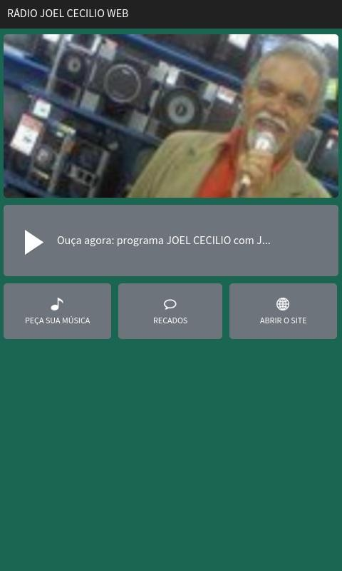 Rádio Joel Cecilio Web- screenshot