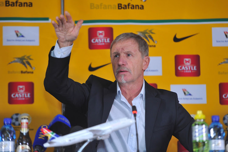Stuart Baxter coach of South Africa during the South Africa AFCON Qualifier Team Announcement on the 28 August 2018 at SAFA House.